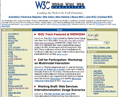 Screenshot of W3C Home Page in May 2004