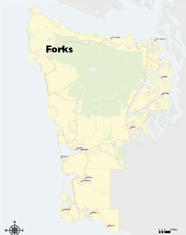 ICT Example 3: Forks Washington (USA). View the Forks movie. map of the