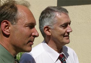 Tim Berners-Lee and Robert Cailliau