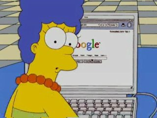 "Marjorie ""Marge"" Simpson using the Web (© Fox Broadcasting Company)"