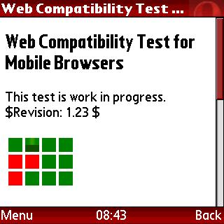 Screenshot of web compatibility test for mobile browsers in opera-mini-41beta