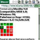 Screenshot of Web Compatibility Test in Blazer