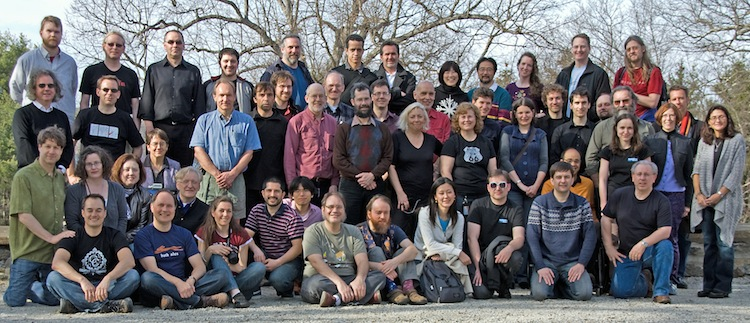 Group photo of the W3C Team, March 2010