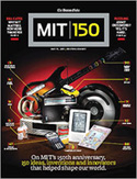 Cover of Boston Globe magazine on MIT 150