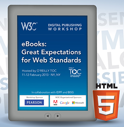 Graphics illustration of the Electronic Books and the Open Web Platform workshop