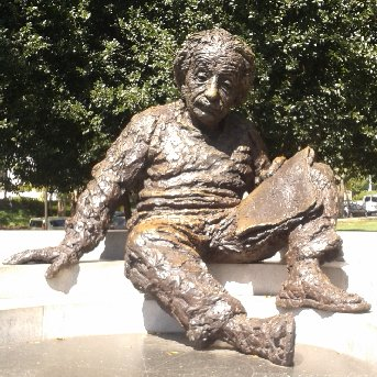The sculpture of Einstein outside the NAS building, Constitution Ave, Washington, DC