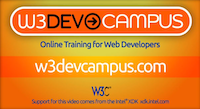 Screenshot from W3DevCampus video