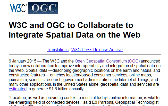 Screenshot of press release announcing collaboration