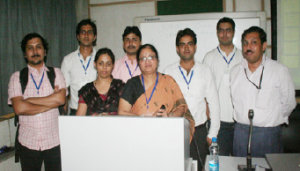 India Office manager Swaran Lata with speakers