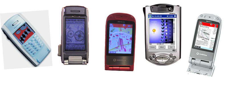 A series of SVG enabled phones