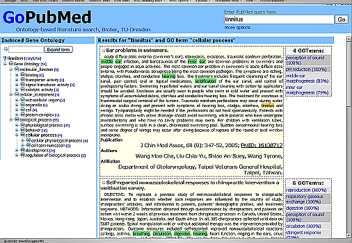 GoPubMed Application dump