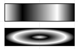 linear and radial gradients with four stops