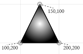 triangle with radial gradient