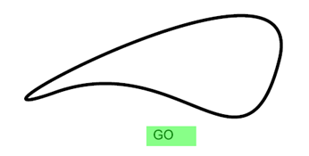 green 'go' button before start