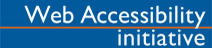 El logo dice en inglés: Web Accessibility Initiative