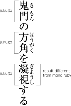 Example of ruby text.
