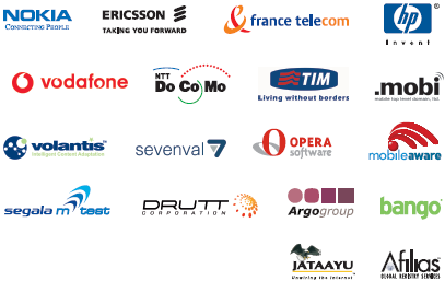 Sponsors de l'Initiative pour le Web Mobile