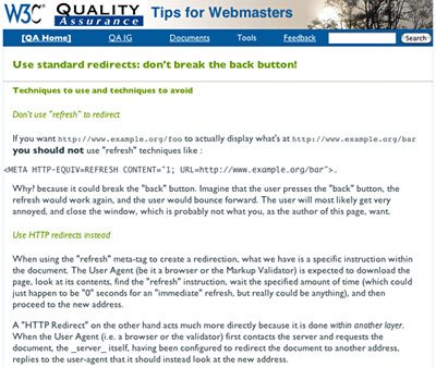 Quick Tips are simple Web pages