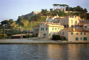Saint Tropez and its fort in the evening sun