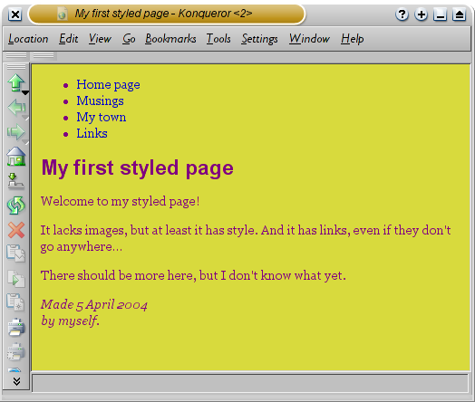 Screenshot with fonts added