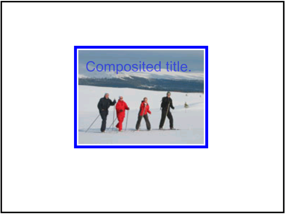 screenshot of composited video