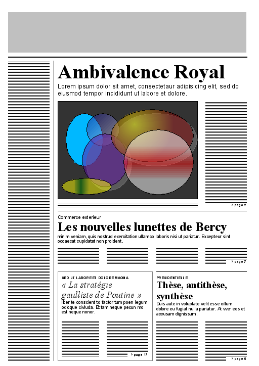 Newspaper front page layout template – Newspaper Layout Template