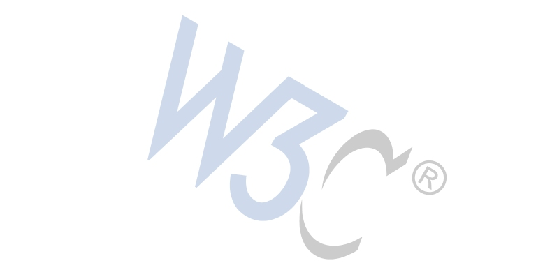 slanted W3C logo