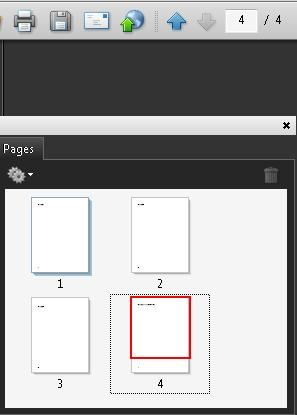 Page thumbnails in the Pages panel and the Page Navigation toolbar, both using Arabic page numbers.