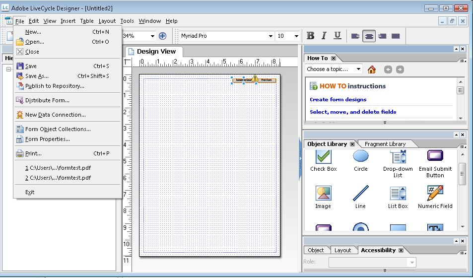 pdf23 providing interactive form controls in pdf documents