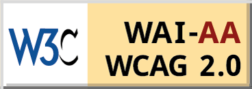 Level Double-A conformance, W3C WAI Web Content Accessibility Guidelines 2.0 logo