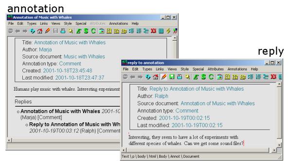 Koivunen: Annotea: Metadata Based Annotation Infrastructure