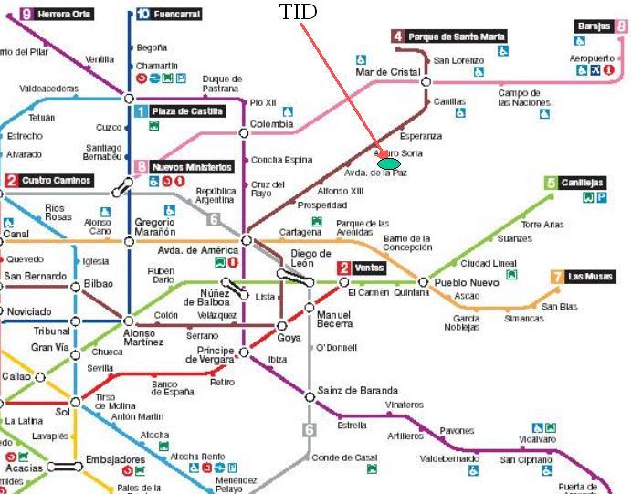 Subway Map In Madrid Spain.Ddwg Workshop 2006 Transport