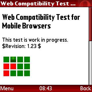 Screenshot of test in Opera Mini 4.1 beta 1