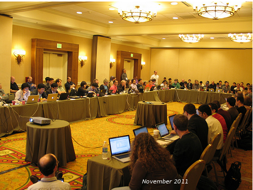 Joint meeting between Web Applications, Web Fonts, Web 		Application Security and CSS Working Groups in November 2011