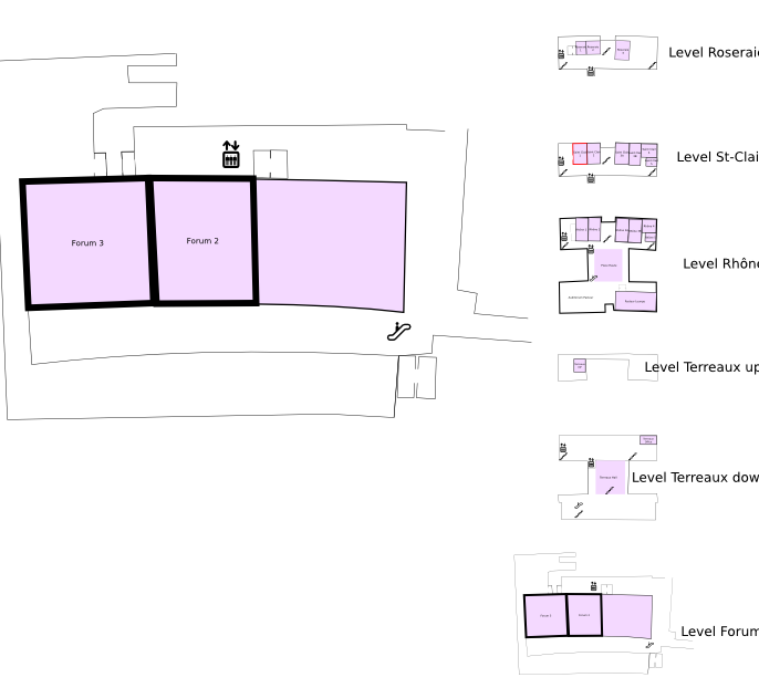 Floor plan with highlight on Forum 3