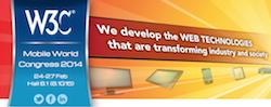 MWC14 W3C logo