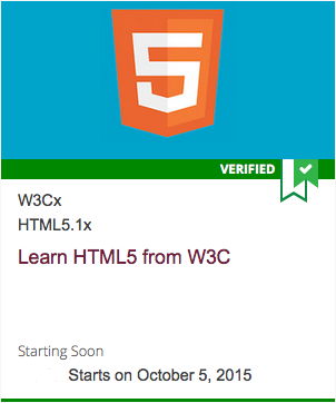 Logo for W3Cx HTML 5.1 October 2015 course