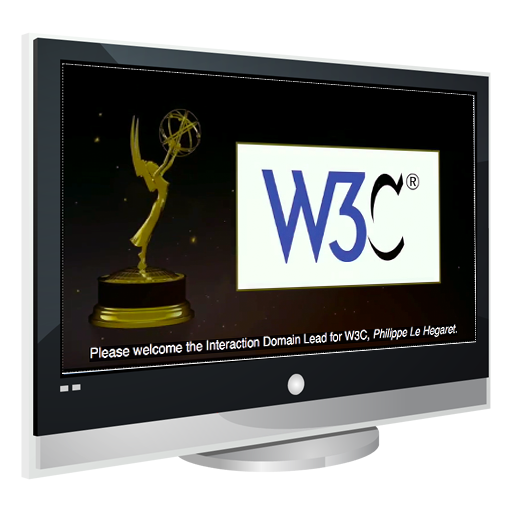 W3C Logo on TV