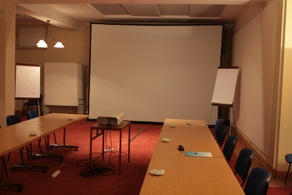 An empty meeting room