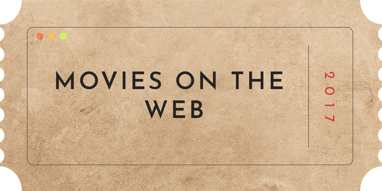 illustration of movies on the Web showing a ticket
