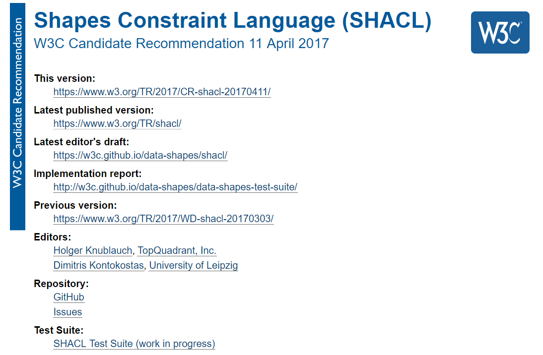 Shapes Constraint Language (SHACL)