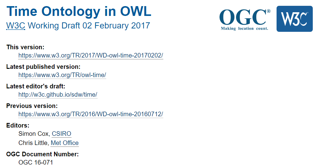 Time Ontology In Owl