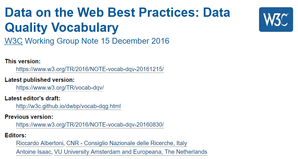Data On The Web Best Practices Data Quality Vocabulary - Data mapping best practices