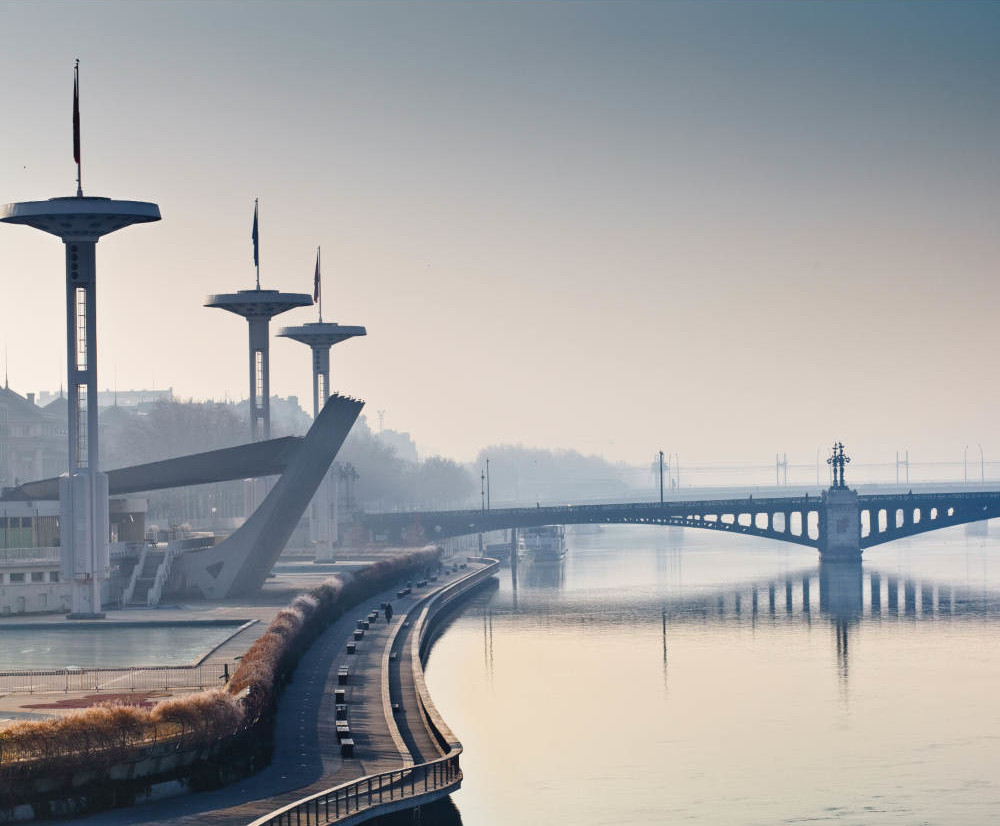 A bridge over the Rhone in Lyon