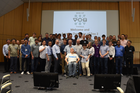 group photo from the Second Web of Things Workshop on 3-5 June 2019