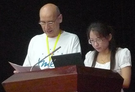 Anqi Li and Klaus Birkenbihl at W3C Day China 2010, Photo by: 王影