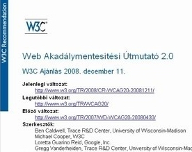 WCAG 2.0 Guidelines in Hungarian
