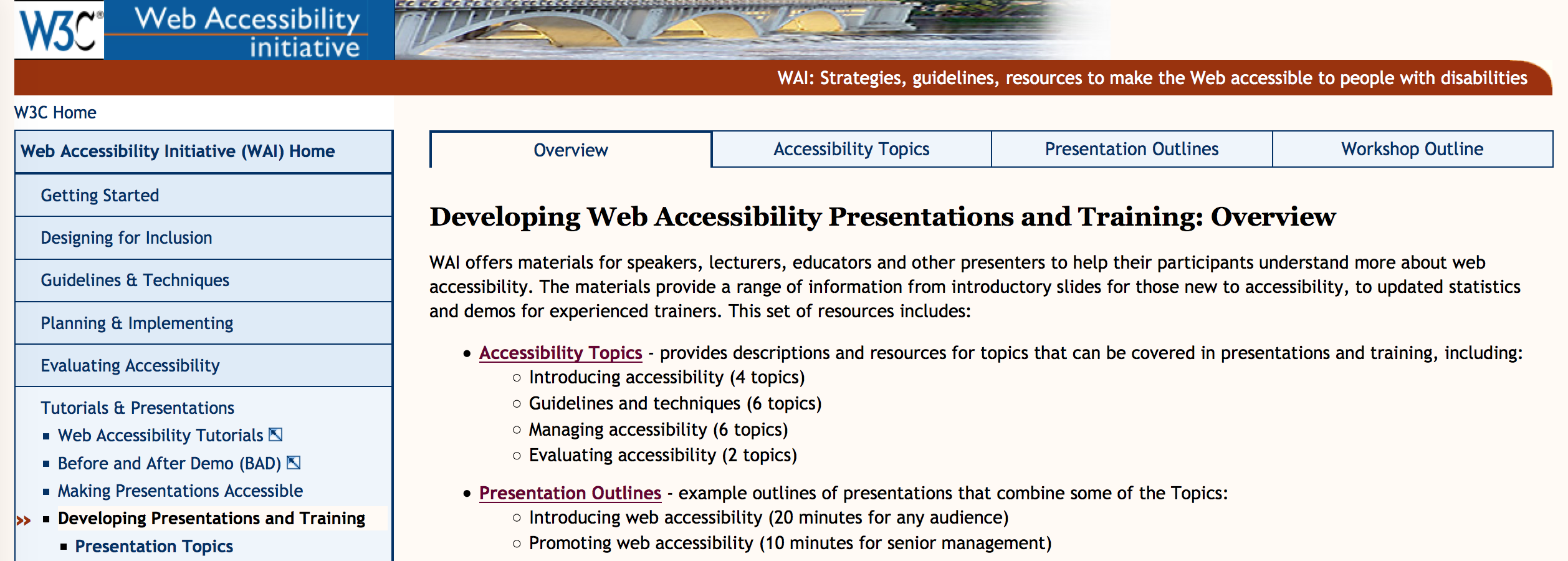 topics for presentations the wai to web accessibility best lessons  topics for presentations