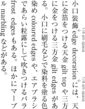 Requirements of Japanese Text Layout