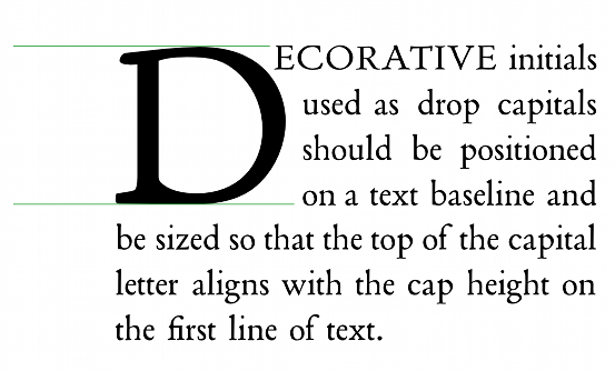 Large first letter of the first paragraph using CSS - Answers